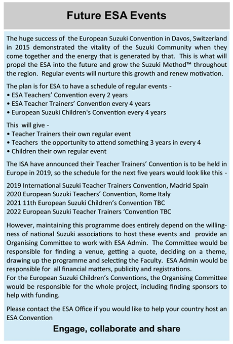 Future ESA Events